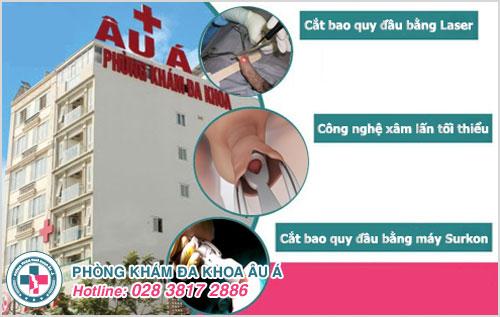 Phòng Khám Đa Khoa Âu Á áp dụng nhiều phương pháp điều trị cắt bao quy đầu
