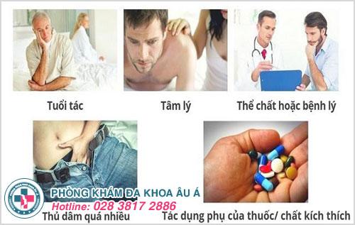 Một số nguyên nhân thường gặp gây ra bệnh liệt dương ở nam giới