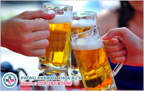 Khi da bị kích thích do rượu hay đồ uống có chứa cồn, các niêm mạc cũng sẽ bị ảnh hưởng