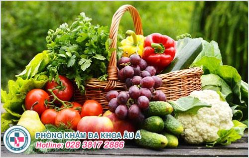 Bổ sung các loại trái cây, rau xanh