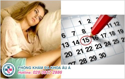 Đặt vòng tránh thai bị rong kinh trễ kinh và không có kinh