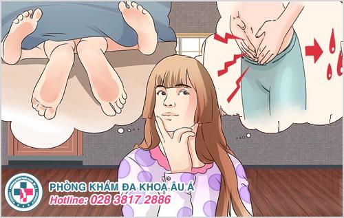 Đau bụng dưới và chảy ra máu sau khi quan hệ phải làm sao?