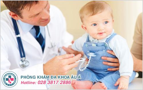 Hình ảnh viêm da bóng nước ở trẻ em