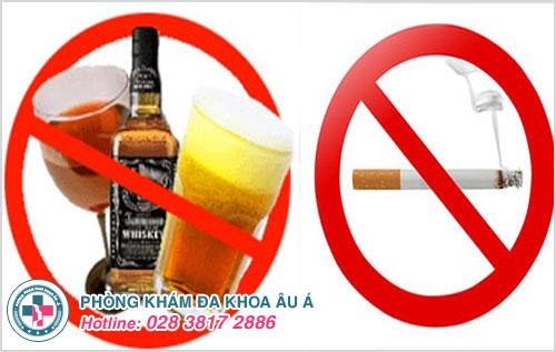Phòng tránh mắc bệnh liệt dương không sử dụng bia, rượu, hút thuốc lá quá nhiều