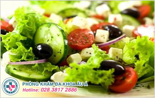 Ăn nhiều thực phẩm đặc biệt là rau, trái cây tươi